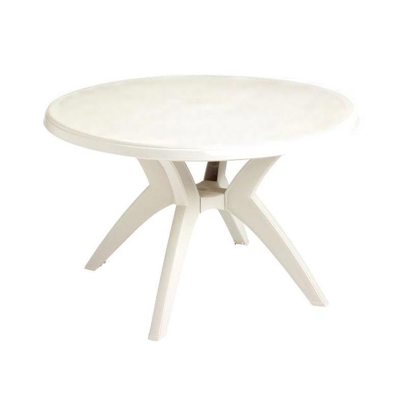 Stół Ogrodowy Okrągły Sf T021 Biały Fi 90 Dobra Cena