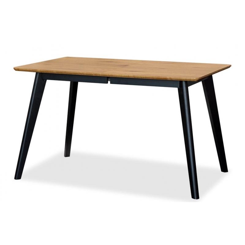 Stół Dante Rozkładany 140x90 Cm Dąb Nogi Drewno Czarne