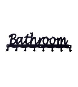 WIESZAK ŁAZIENKOWY ŚCIENNY BATHROOM METALOWY (BIAŁY, CZARNY)