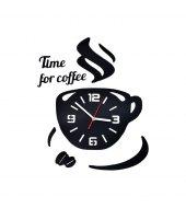 ZEGAR ŚCIENNY COFFE DIY OZDOBNY CZARNY
