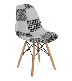 Krzesło AMY Patchwork białe+czarne