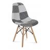 Krzesło AMY Patchwork biało/czarne